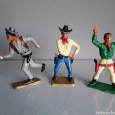 Figuras de Goma y PVC: VAQUEROS, SERIE COWBOYS DE STARLUX FRANCE, AÑOS 60/70, COMP. CON REAMSA, JECSAN .... Lote 225861360