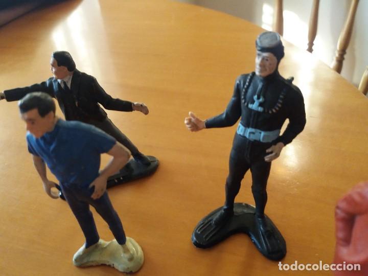 Figuras de Goma y PVC: Lote de 6. Figuras películas de James Bond. Sean Connery. Goldfinger. Marca Gilbert. Años 70. - Foto 3 - 226057825