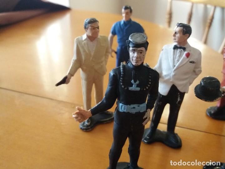 Figuras de Goma y PVC: Lote de 6. Figuras películas de James Bond. Sean Connery. Goldfinger. Marca Gilbert. Años 70. - Foto 5 - 226057825