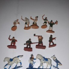 Figuras de Goma y PVC: MONTAPLEX O SIMILAR, LOTE 12 FIGURAS PINTADAS VARIOS TIPOS. Lote 226251720