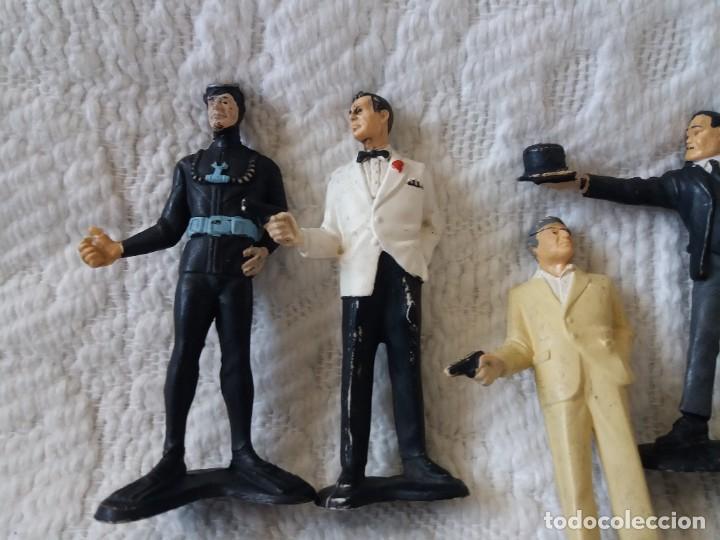 Figuras de Goma y PVC: Lote de 6. Figuras películas de James Bond. Sean Connery. Goldfinger. Marca Gilbert. Años 70. - Foto 7 - 226057825