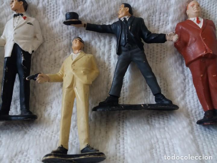 Figuras de Goma y PVC: Lote de 6. Figuras películas de James Bond. Sean Connery. Goldfinger. Marca Gilbert. Años 70. - Foto 8 - 226057825