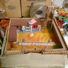 Figuras de Goma y PVC: ANTIGUO FUERTE FORT FEDERAL DE COMANSI DE MADERA GRAN TAMAÑO. Lote 226268835
