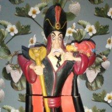 Figuras de Goma y PVC: FIGURA JAFAR FRASCO DE COLINA, EL VILLANO DE ALADDIN - DISNEY. Lote 226401908