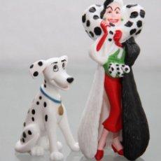 Figuras de Goma y PVC: FIGURAS PVC LOS DALMATAS - CRUELLA DEVIL Y PERDITA - BULLYLAND. Lote 279560173