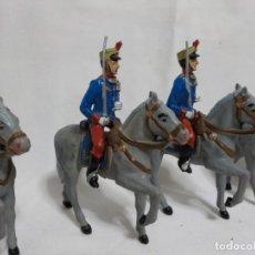 Figuras de Goma y PVC: GOMARSA.SEIS SOLDADOS DE LA GUARDIA REAL A CABALLO. Lote 226675730