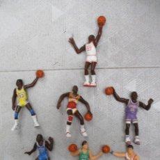 Figuras de Goma y PVC: NBA - 7 FIGURAS - BARKLEY - JORDAN - JOHNSON -PETROVIC - THOMAS - WILKINS - MCHALE - 1987 -YOLANDA. Lote 226785990