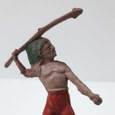 Figuras de Goma y PVC: GUERRERO INDIO . FIGURA REAMSA Nº 89 . SERIE PEQUEÑA . ORIGINAL AÑOS 50 EN GOMA. Lote 226800780