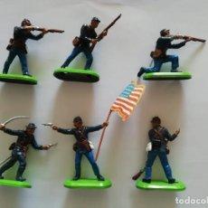 Figuras de Goma y PVC: BRITAINS 6 FEDERALES AMERICANOS NUEVOS SIN USO MARCA BASE 1971 PRECIO MM. Lote 226817060