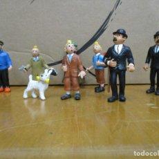 Figuras de Goma y PVC: COLECCION TINTIN / MILU / HADOCK / TORNASOL / - 8 FIGURAS - AÑOS 80 COMIC SPAIN - MUY BUEN ESTADO. Lote 226853900
