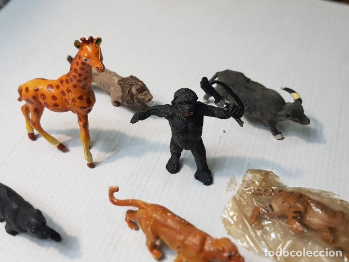 Figuras de Goma y PVC: Figuras Capell serie Fieras en Goma dura lote 10 distintas original de época - Foto 5 - 227088790