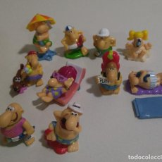 Figuras Kinder: FIGURA MINIATURA KINDER MONOBLOC FERRERO HUEVO SORPRESA MUÑECO PLAYA. Lote 227152470