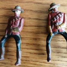 Figuras de Goma y PVC: 2 FIGURAS POLICIA MONTADA DEL CANADA EN GOMA (COMANSI, JECSAN, , SOTORRES, REIGON). ETC. Lote 227467504