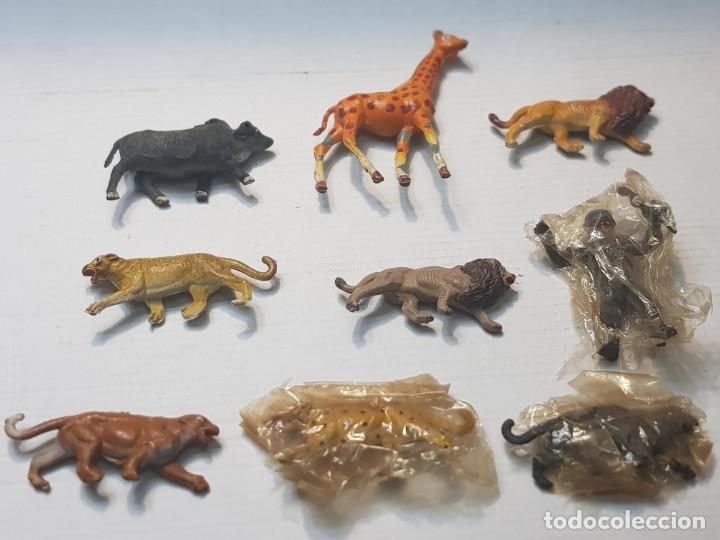 FIGURAS CAPELL ANIMALES SALVAJES LOTE 9 ALGUNOS EN BLISTER ORIGINAL GOMA DURA (Juguetes - Figuras de Goma y Pvc - Capell)