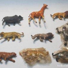 Figuras de Goma y PVC: FIGURAS CAPELL ANIMALES SALVAJES LOTE 9 ALGUNOS EN BLISTER ORIGINAL GOMA DURA. Lote 227470010