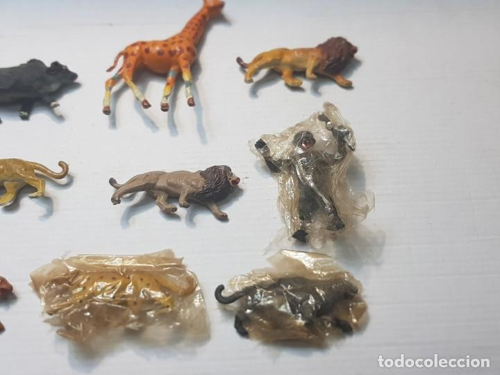 Figuras de Goma y PVC: Figuras Capell animales Salvajes lote 9 algunos en blister original goma dura - Foto 2 - 227470010