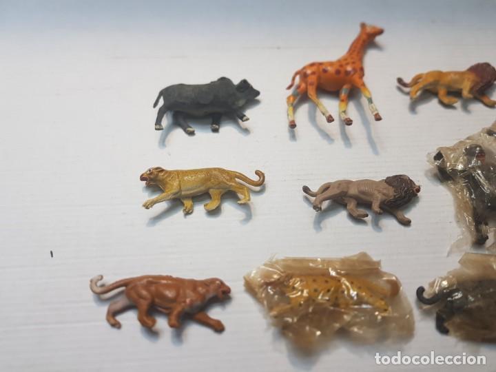Figuras de Goma y PVC: Figuras Capell animales Salvajes lote 9 algunos en blister original goma dura - Foto 3 - 227470010