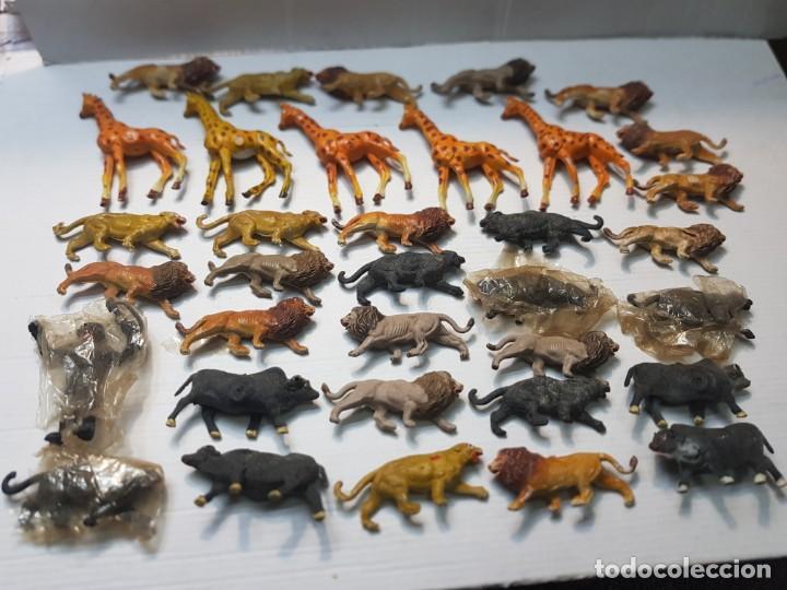 FIGURA CAPELL ANIMALES SALVAJES LOTE 35 FIGURAS GOMA DURA ALGUNA DIFICIL (Juguetes - Figuras de Goma y Pvc - Capell)