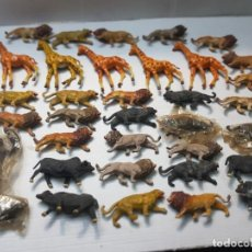 Figuras de Goma y PVC: FIGURA CAPELL ANIMALES SALVAJES LOTE 35 FIGURAS GOMA DURA ALGUNA DIFICIL. Lote 227561480