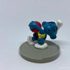 Figuras de Borracha e PVC: PITUFO LANZADOR DE DISCO - PEYO - SCHLEICH. Lote 227577175
