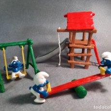 Figuras de Goma y PVC: PARQUE DE LOS PITUFOS - PEYO - SCHLEICH. Lote 227589165