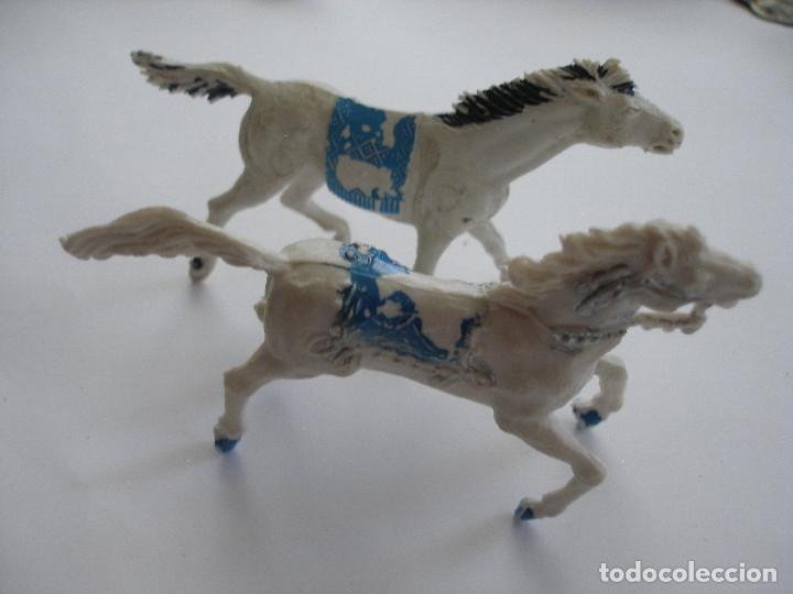 DOS CABALLOS PLÁSTICO AÑOS 60 (Juguetes - Figuras de Goma y Pvc - Lafredo)