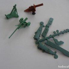 Figuras de Goma y PVC: TANQUE MORTERO CAÑÓN Y UNA COLADA INCOMPLETA. Lote 41454119