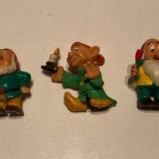 Figuras de Goma y PVC: LOTE ANTIGUAS FIGURAS ENANITOS BLANCANIEVES COMICS SPAIN. Lote 227724715