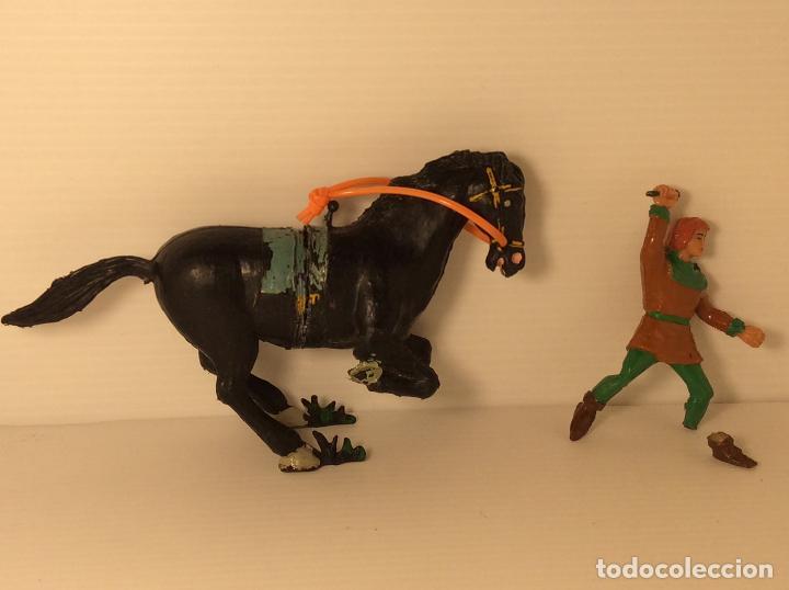 Figuras de Goma y PVC: FIGURA DE CRISPIN A CABALLO DE CAPITAN TRUENO DE ESTEREOPLAST - Foto 5 - 227821645