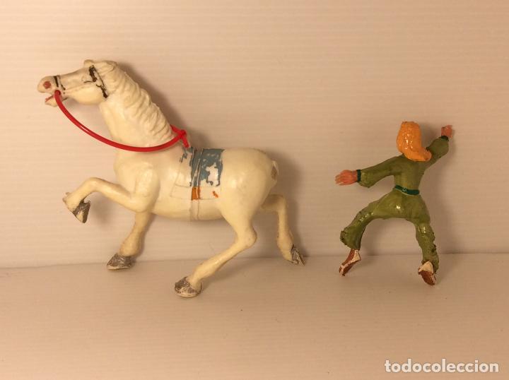 Figuras de Goma y PVC: FIGURA DE SIGRID A CABALLO DEL CAPITAN TRUENO DE ESTEREOPLAST - Foto 4 - 227822490