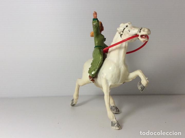 Figuras de Goma y PVC: FIGURA DE SIGRID A CABALLO DEL CAPITAN TRUENO DE ESTEREOPLAST - Foto 7 - 227822490