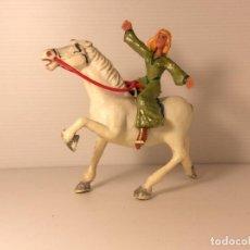 Figuras de Goma y PVC: FIGURA DE SIGRID A CABALLO DEL CAPITAN TRUENO DE ESTEREOPLAST. Lote 227822490