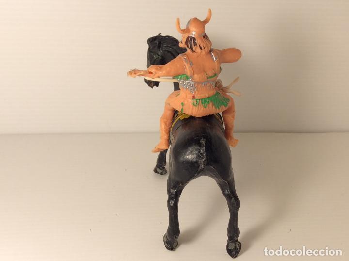 Figuras de Goma y PVC: FIGURA DE VIKINGO A CABALLO DEL CAPITAN TRUENO DE ESTEREOPLAST - Foto 3 - 227822977