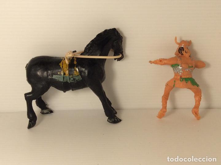 Figuras de Goma y PVC: FIGURA DE VIKINGO A CABALLO DEL CAPITAN TRUENO DE ESTEREOPLAST - Foto 4 - 227822977
