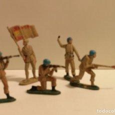 Figuras de Goma y PVC: S 5 SOLDADOS ESPAÑOLES DE GOMA TEIXIDO. Lote 227914945