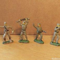Figuras de Goma y PVC: JECSAN. 3 SOLDADOS JAPONESES Y 1 MARINE AMERICANO. SERIE PEQUEÑA. 40MM.. Lote 227963510