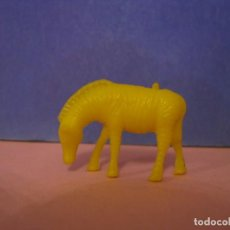 Figuras de Goma y PVC: FIGURA DUNKIN FIERAS DEL ZOO. CEBRA. AMARILLA.. Lote 228198340