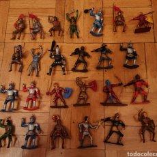 Figuras de Borracha e PVC: FIGURAS MEDIEVALES, COMANSI STARLUX, ORIGINALES, CABALLEROS EDAD MEDIA. Lote 228282570