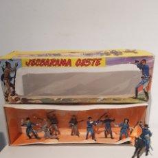 Figuras de Goma y PVC: JECSAN JECSARAMA OESTE SERIE FEDERALES Y CONFEDERADOS EN CAJA ORIGINAL GRAN ESTADO. Lote 228364965