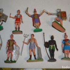 Figuras de Goma y PVC: 10 FIGURAS ROMANOS / GLADIADOR - COMANSI, OLIVER, PUIG, PECH, JECSAN..... AÑOS 60 ¡MIRA FOTOS !. Lote 228492715