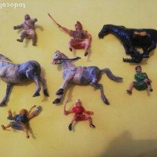 Figurines en Caoutchouc et PVC: LOTE ESTEREOPLAST FIGURAS VARIAS AÑOS 60 PLÁSTICO COSACO VERDE IVAN ROMANO (QUINTO ARRIO) MONGOL. Lote 228549140