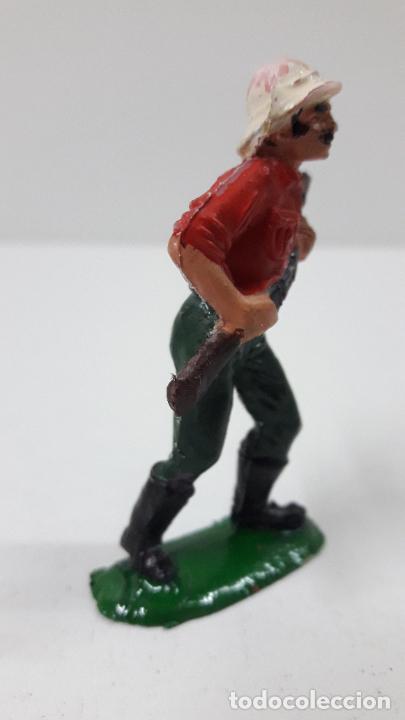 Figuras de Goma y PVC: EXPLORADOR - CAZADOR . REALIZADO POR TEIXIDO . SERIE SAFARI . ORIGINAL AÑOS 60 - Foto 5 - 228573445