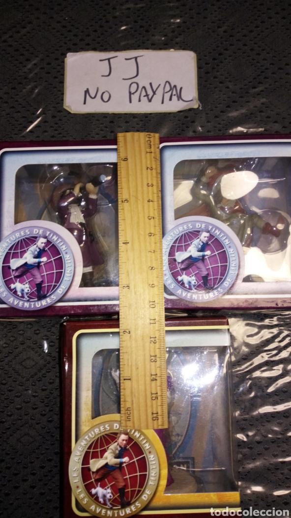 Figuras de Goma y PVC: Lote 3 figura muñeco las aventuras de tintin promocional carrefour paramount 2011 resina creo - Foto 2 - 228613005