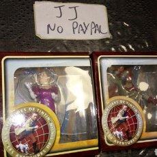 Figuras de Goma y PVC: LOTE 2 MUÑECO FIGURA LAS AVENTURAS DE TINTIN PROMOCIONAL CARREFOUR PARAMOUNT 2011 RESINA. Lote 228613650