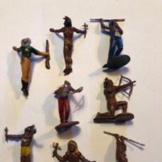 Figuras de Goma y PVC: GAMA FIGURAS GOMA AÑOS 50 DESMONTABLES TOTAL 8 FIGURAS. Lote 228791515