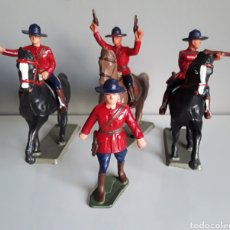 Figuras de Goma y PVC: POLICÍA MONTADA DEL CANADÁ, STARLUX FRANCE (L.TEIXIDOR), AÑOS 70, OESTE, TAMAÑO COMPATIBLE REAMSA. Lote 228813250