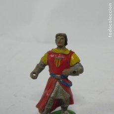 Figuras de Goma y PVC: ESTEREOPLAST - JIN , CAPITAN TRUENO EN GOMA AÑOS 50. BUEN ESTADO.. Lote 228997825