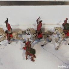 Figuras de Goma y PVC: 4 LEGIONARIOS ROMANO A CABALLO, REAMSA, REALIZADO EN GOMA, AÑOS 50/ 60. Lote 229007080