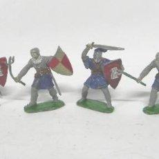 Figuras de Goma y PVC: 6 FIGURAS, GUERRERO MEDIEVAL . REALIZADO POR LAFREDO . SERIE PRINCIPE VALIENTE . AÑOS 60. Lote 229015745