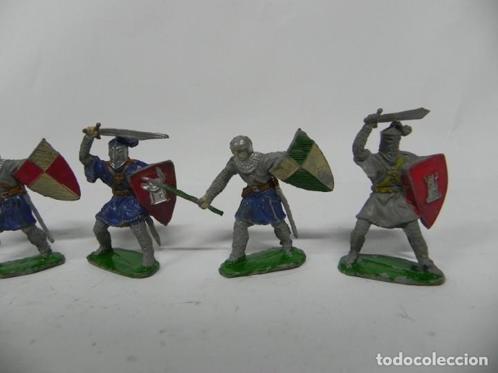 Figuras de Goma y PVC: 6 FIGURAS, GUERRERO MEDIEVAL . REALIZADO POR LAFREDO . SERIE PRINCIPE VALIENTE . AÑOS 60 - Foto 2 - 229015745